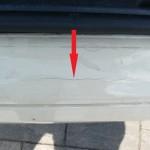 Gebrochener Lack an der Ladekante Mercedes-Benz E-Klasse