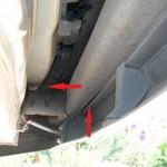 Heckblech gestaucht, Stoßfängerhalterung gebrochen Mercedes-Benz E-Klasse