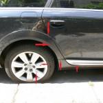 Anstoßbereich hinten Audi A6