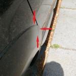 Schadenbereich hinten Audi A6