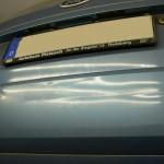 Kratzer und Dellen Hecktür Ford Fiesta