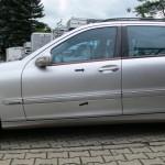 Seitenansicht des Schadenbereiches Mercedes-Benz C-Klasse