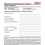 Abtretungserklärung KFZ Sachverständigenbüro Päperer
